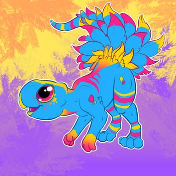 Pan Psittacosaurus by Glitchdove