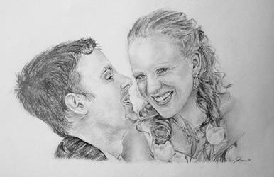 Glen and Ness wedding portrait by Abatwa-Oolie