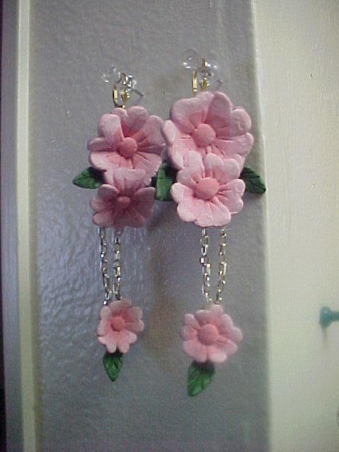 Sakura earrings by bones-sickle