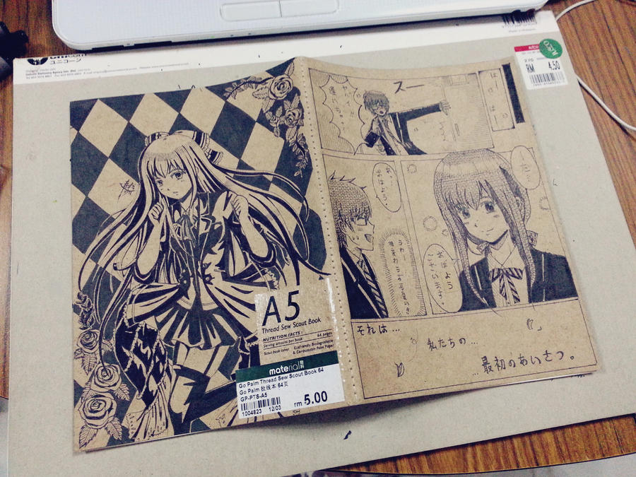 Notebook Cover Art : Drawings on my notebook covers by sai deviantart