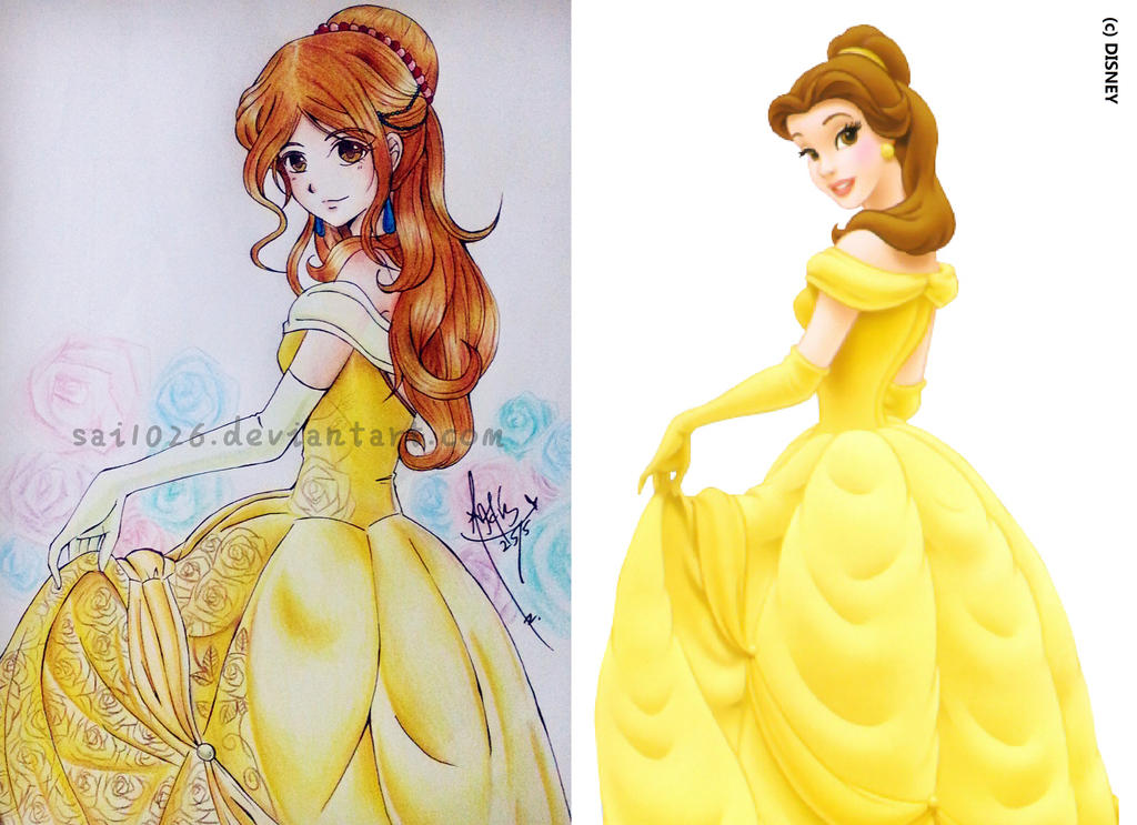 Disney Character in Anime Style by Sai1026