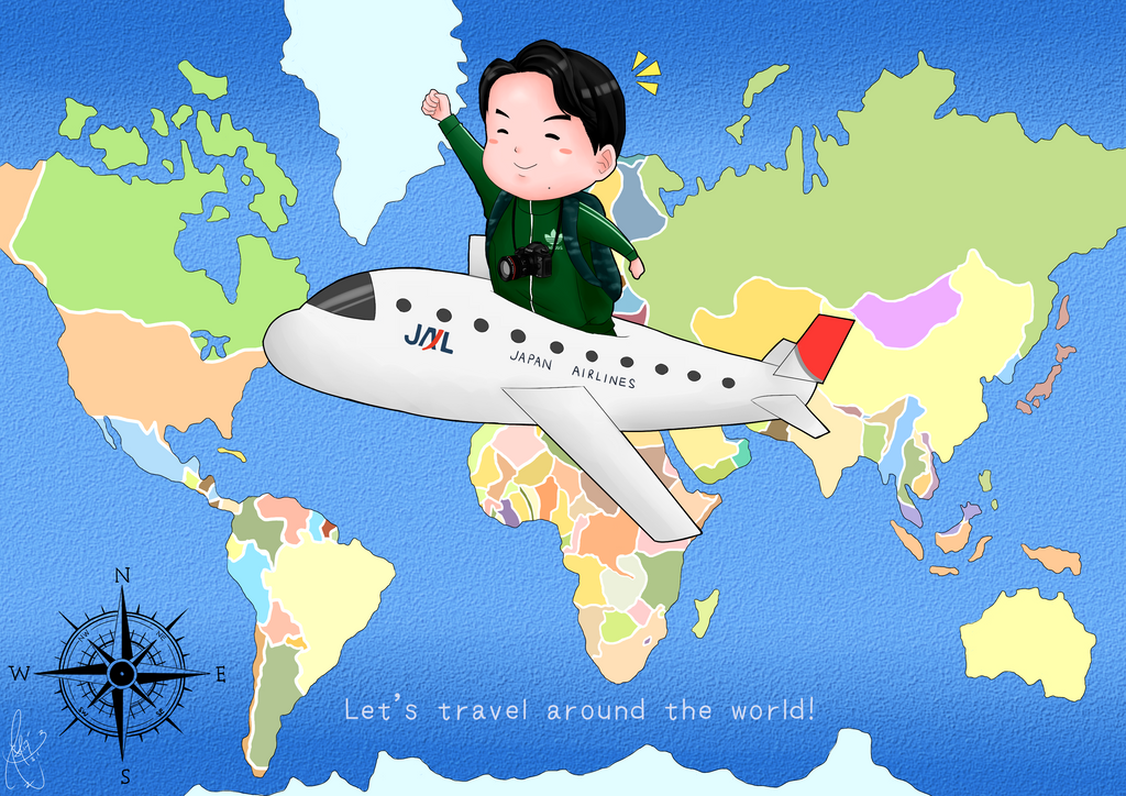 Let's travel around the world! by Sai1026