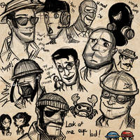 TF2 Doodles 2 by Not-Sparkly-At-All