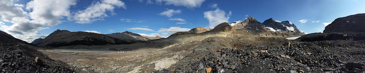 Athabasca glacier moraine