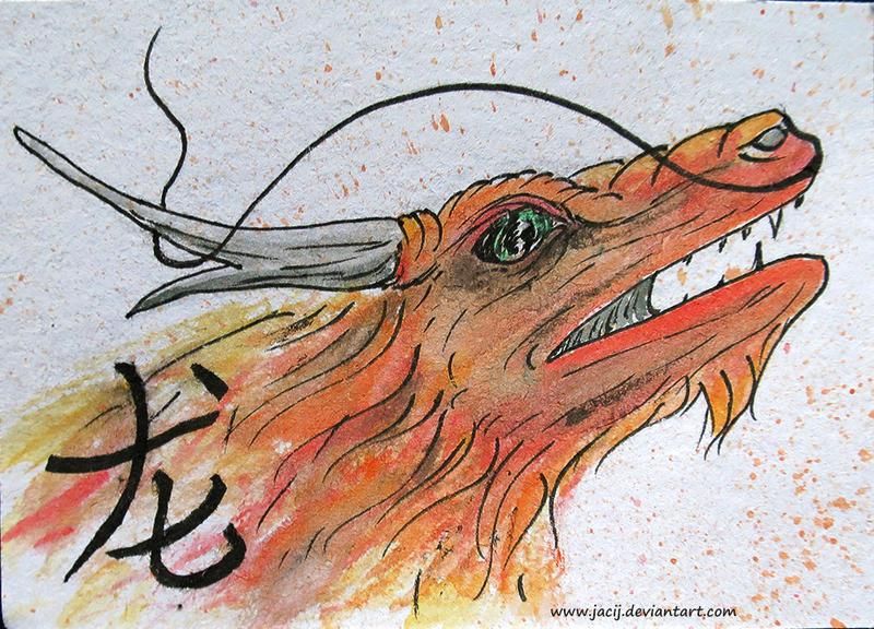 Chinese zodiac dragon atc by jacij on DeviantArt