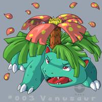 003: Venusaur by pokehasu