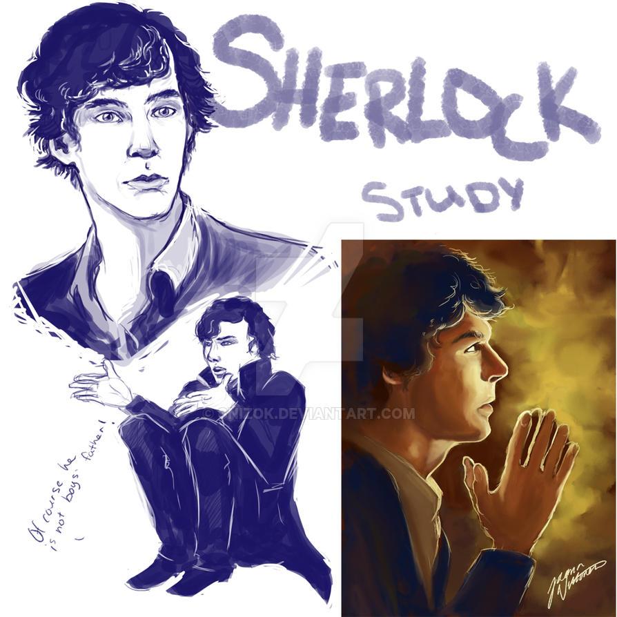 Sherlock study by Snizok
