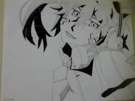 Ene-Mekaku city actor (pen/pencil) by KiritoGL123