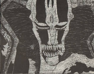 Hollow vasto lorde ichigo-scratch art by KiritoGL123