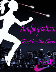 Nike female ad-project- by KiritoGL123