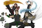 Harry Potter / Avatar - Four Houses, Four Elements