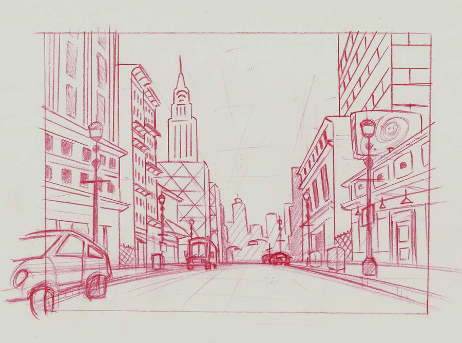 Line Drawing Nyc : Ds chapter 3 prep sketch nyc street by isitlunchyet on deviantart