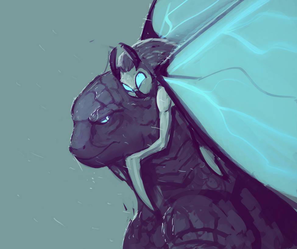 Godzilla and Mothra by ZombieCentipede