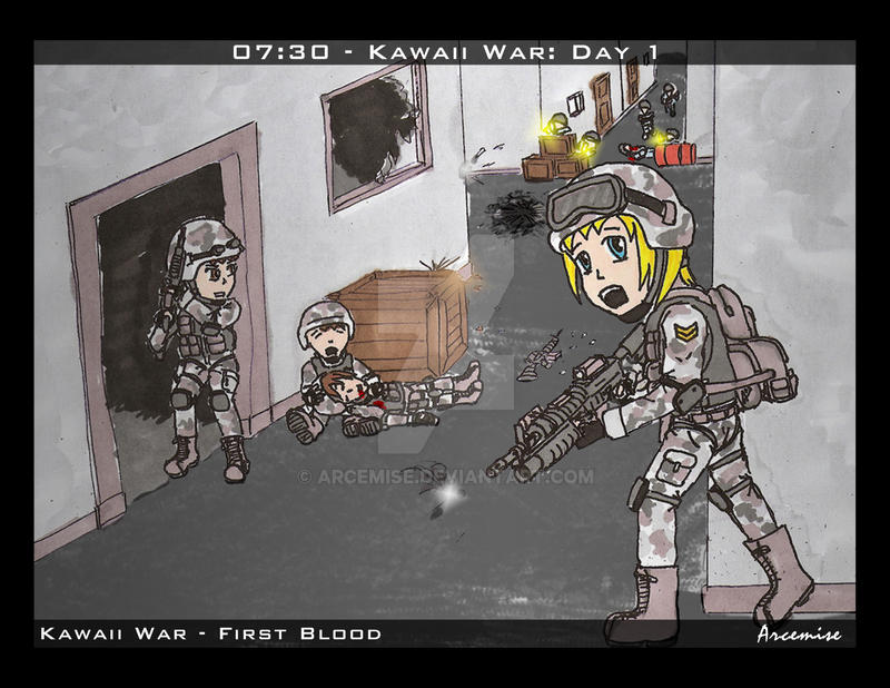 Kawaii War - First Blood by Arcemise