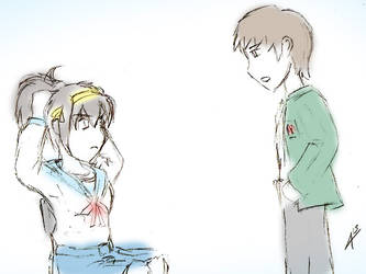 A Chat with Haruhi Suzumiya by Arcemise