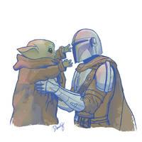 Baby Yoda and Mando