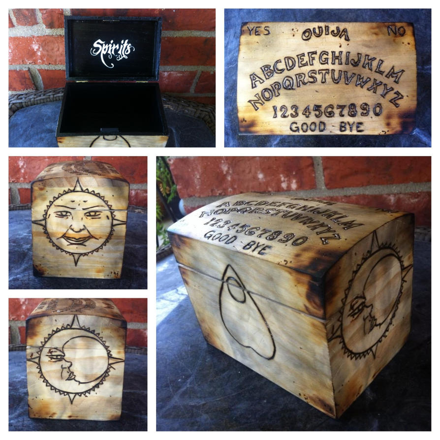 Ouija board box by VoodooDollyArtwork