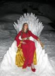 Cersei on a Snow - Iron Throne