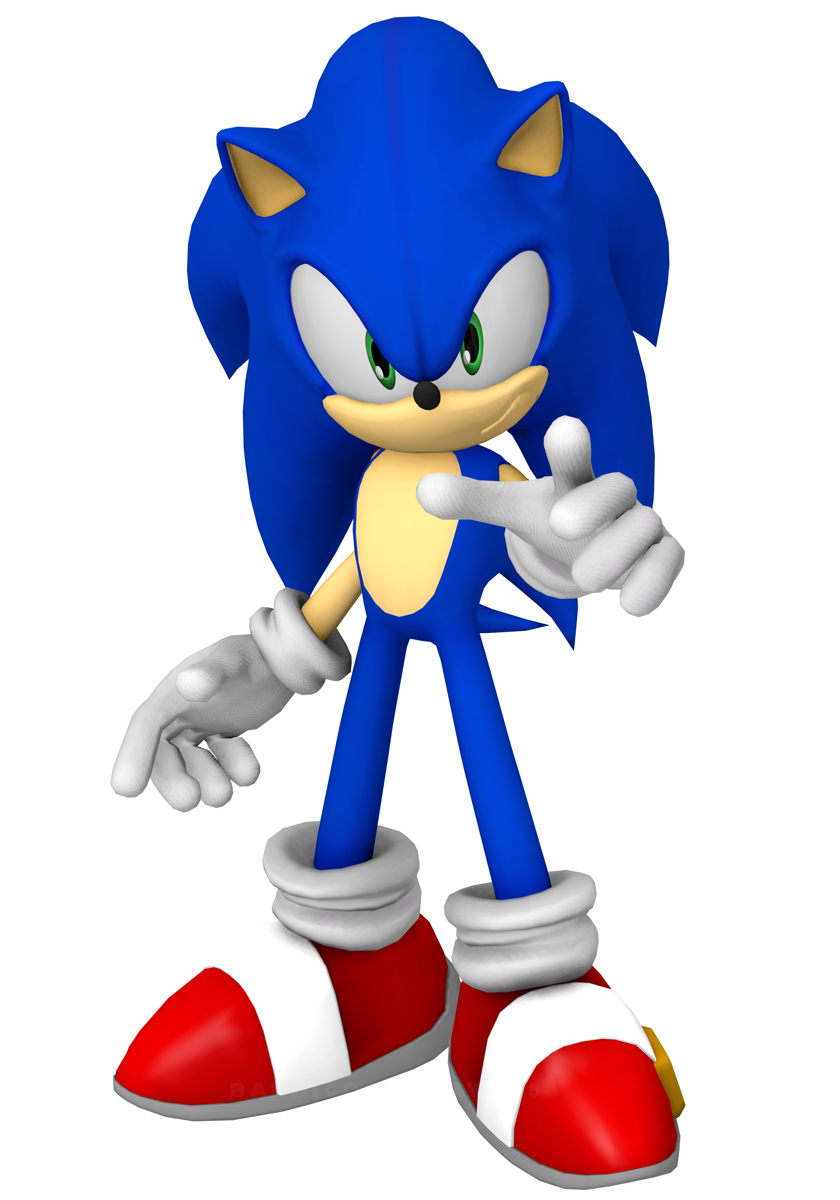 In His World Sonic The Hedgehog 2006 Render By