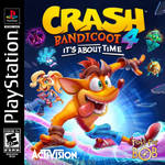 Crash Bandicoot 4: It's About Time PS1 Cover Art