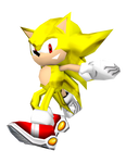Dreamcast Super Sonic Classic Low Poly Render