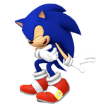 Dreamcast Sonic Laughing Render