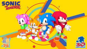 Sonic 30th Anniversary Wallpaper   Classic Era