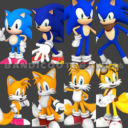 Sonic and Tails Generation by Generation