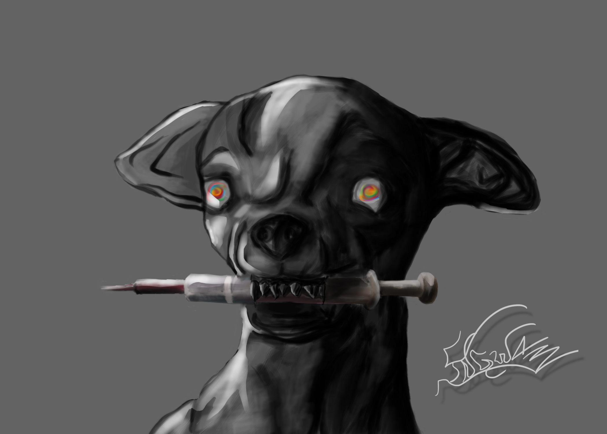 Druggy Dawg by viperoni