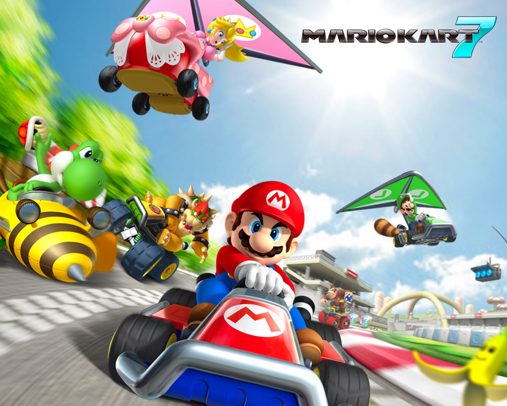 mario kart 7 wallpaper by philipscott on deviantart