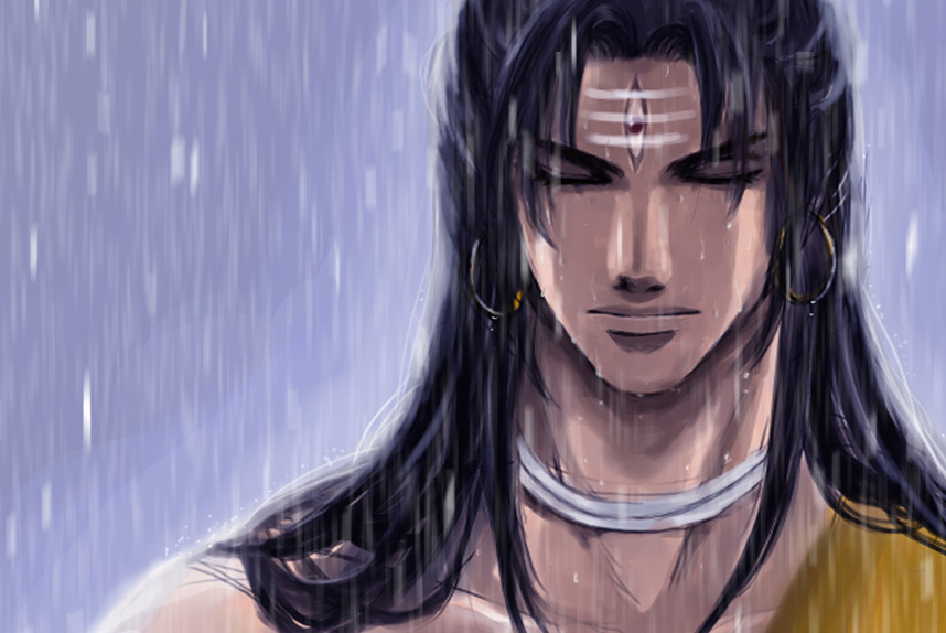 Shiva in the rain by mmmmmr