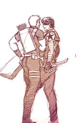 Hawkeye and Winter Soldier