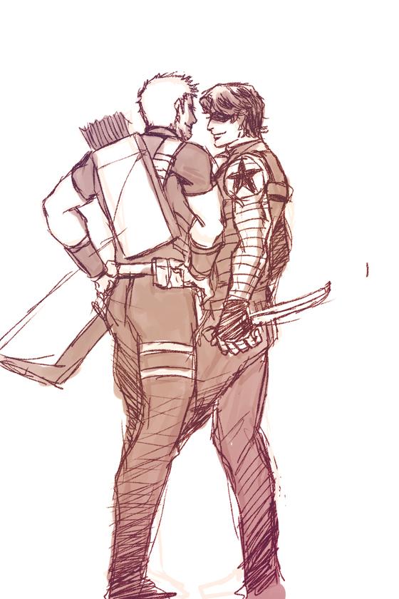Hawkeye and Winter Soldier by mmmmmr on DeviantArt