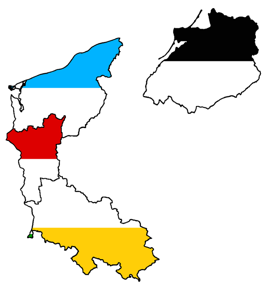 Former Eastern German States Flag Map by Lehnaru on DeviantArt – Map of German States