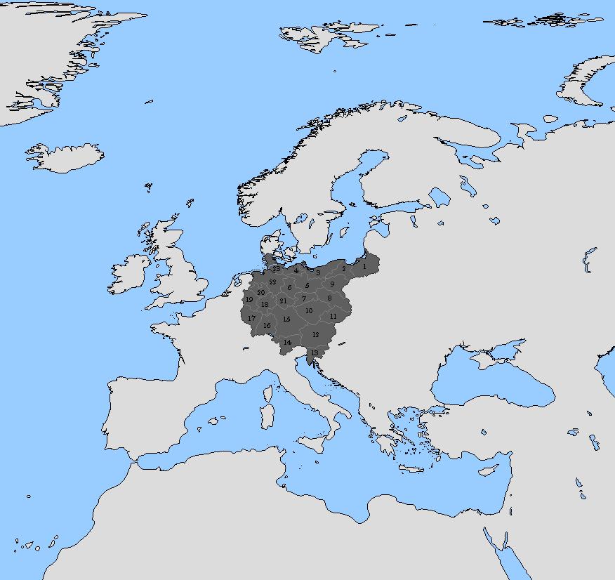 Greater Germany Provinces QBAM By Lehnaru On DeviantArt - Germany map provinces