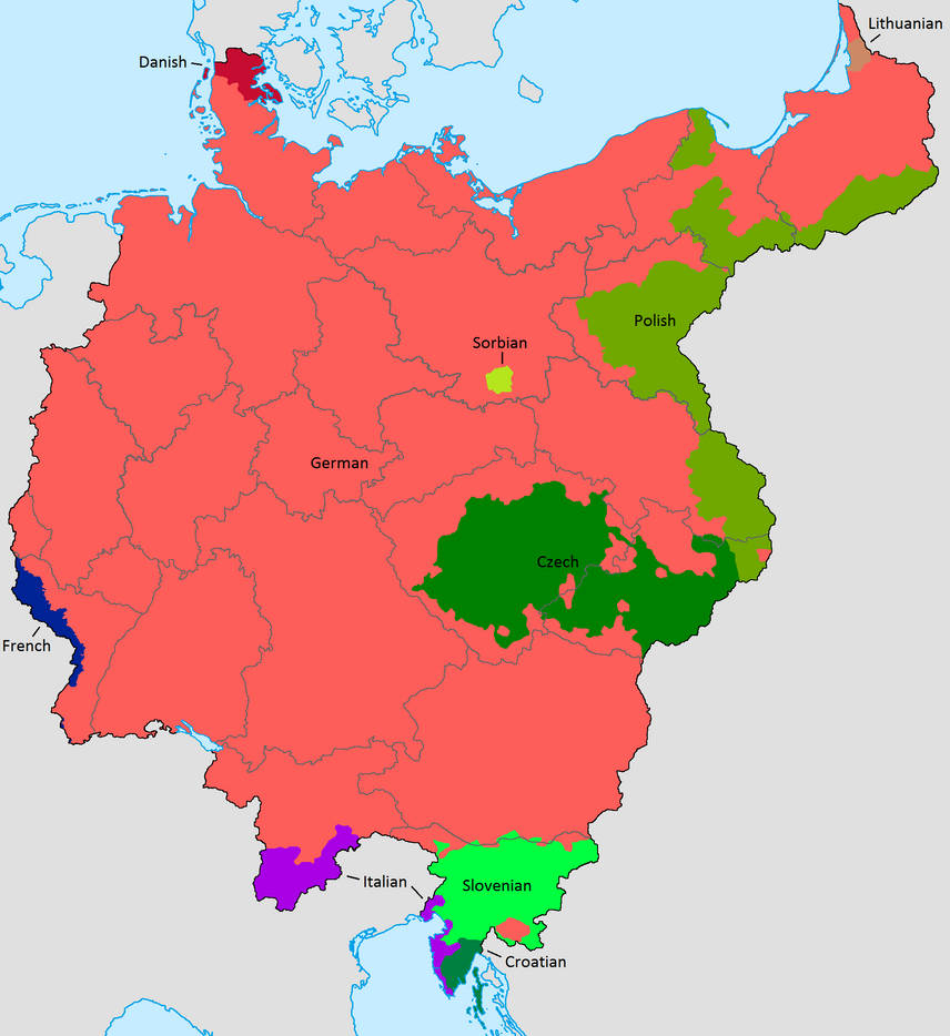 Map Of Old Germany.Greater Germany Ethnic Map Old Version By Lehnaru On Deviantart