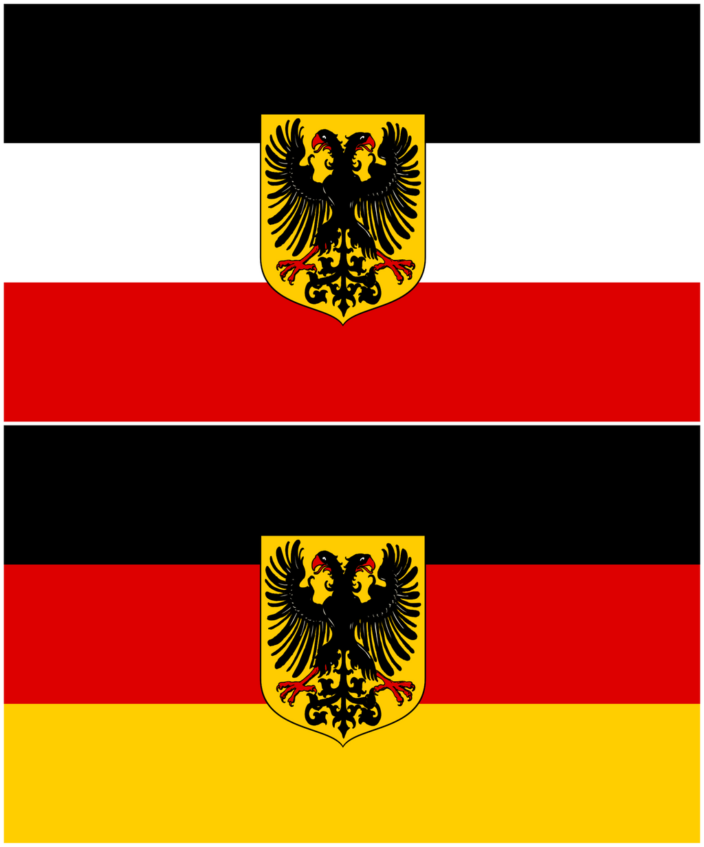 flags of greater germany comparison by lehnaru on deviantart