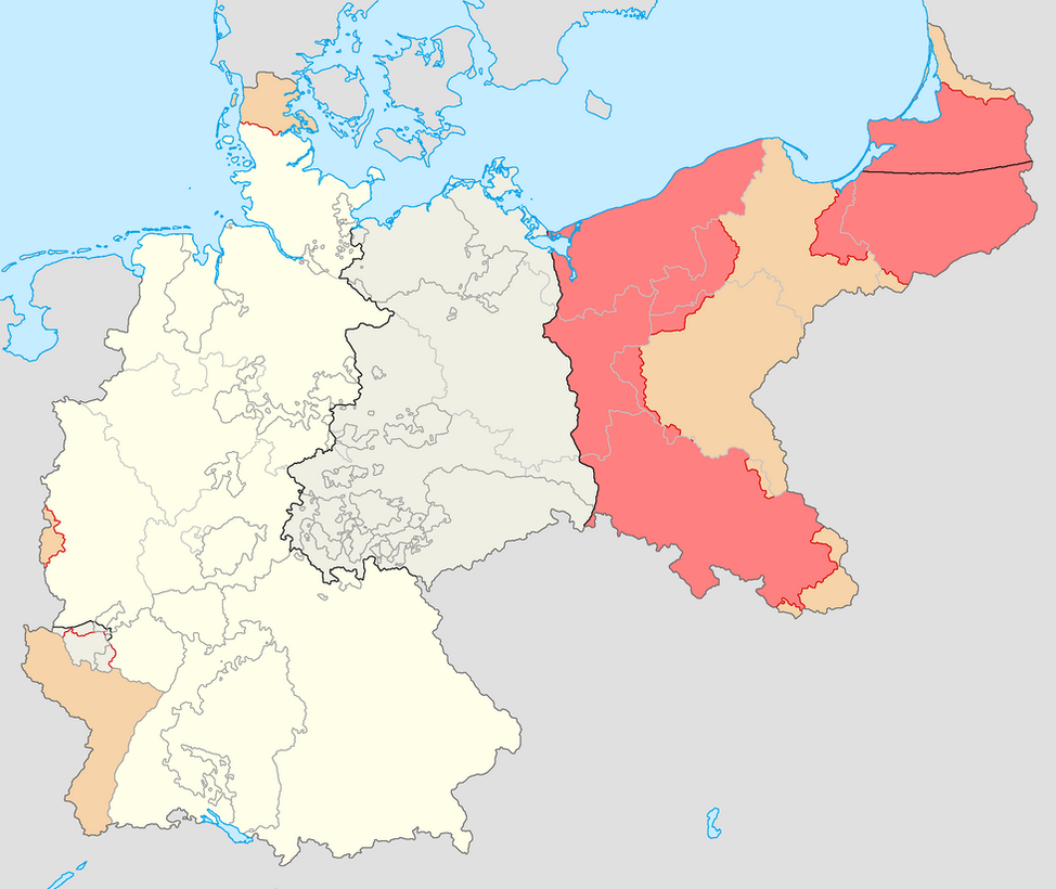 old east west german map