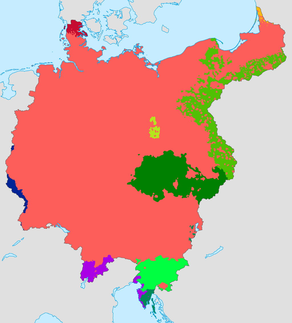 Greater Germany Ethnic Map Old Version By Lehnaru On DeviantArt - Germany map 2015