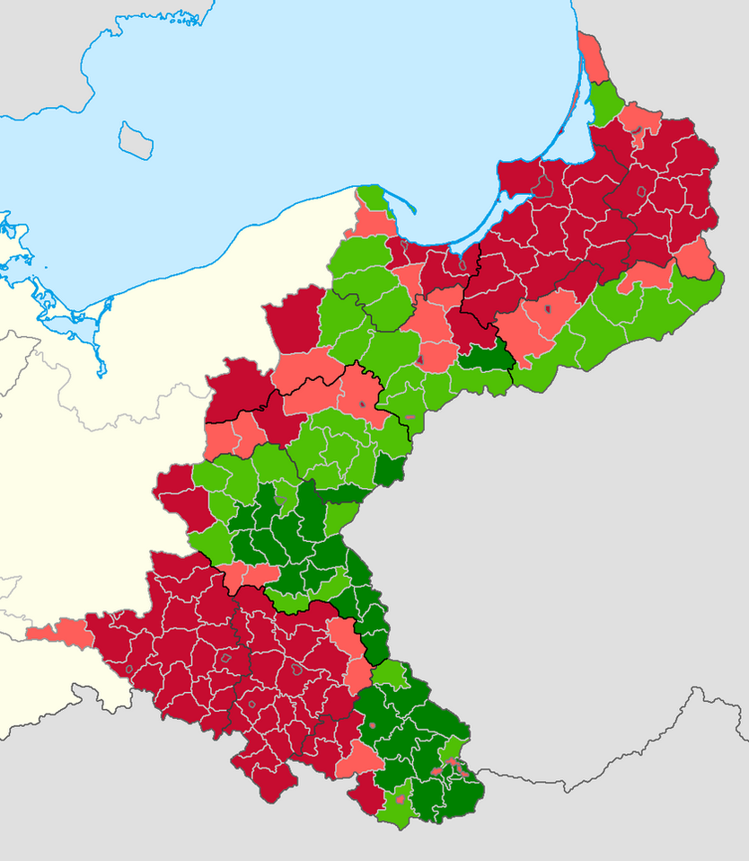 eastern germany ethnic map by district in 1910 by lehnaru
