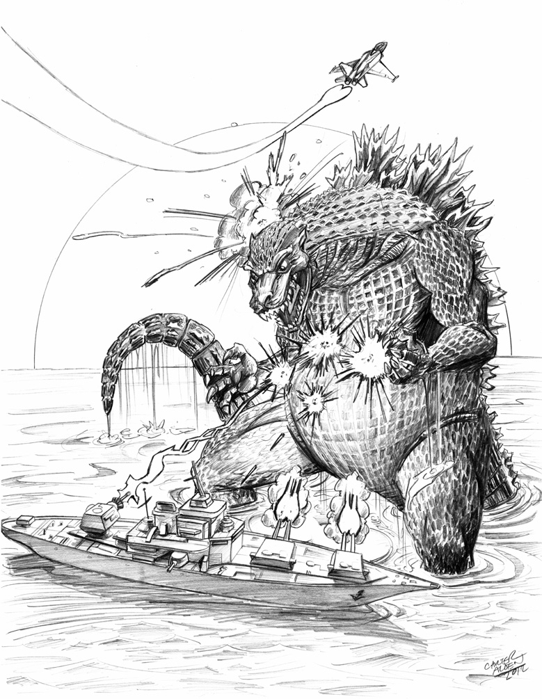 Godzilla by VectorAttila