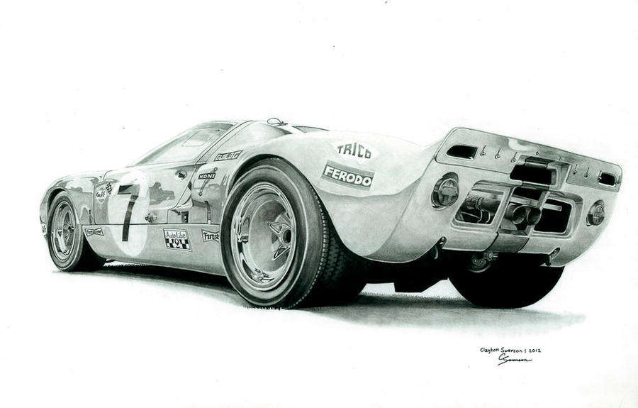 Ford GT40 MKI by CSwenson-Artistry