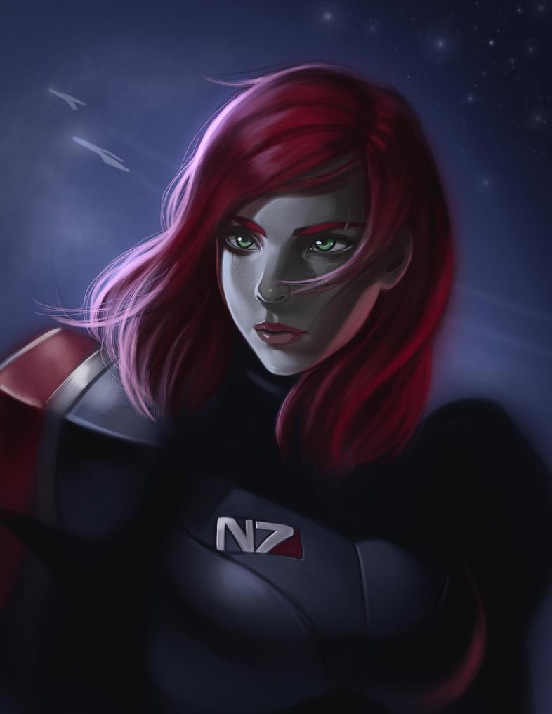 Commander Shepard (Fan art series 2/10) by sesven