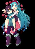Luna and Kai 2 by Luky-Yuki