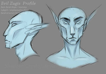 Evil Zugis Facial Study | emphasized profile by Shadow-Crystol