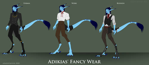 Adikias in Fancy Clothes!
