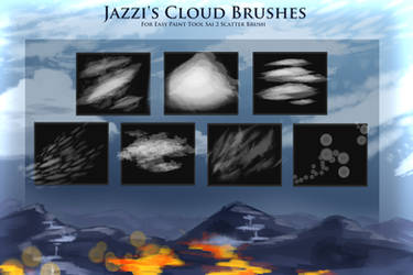 Jazzi's Cloud Brushes [ for paint tool sai 2 ] by Jazzi-Crystol