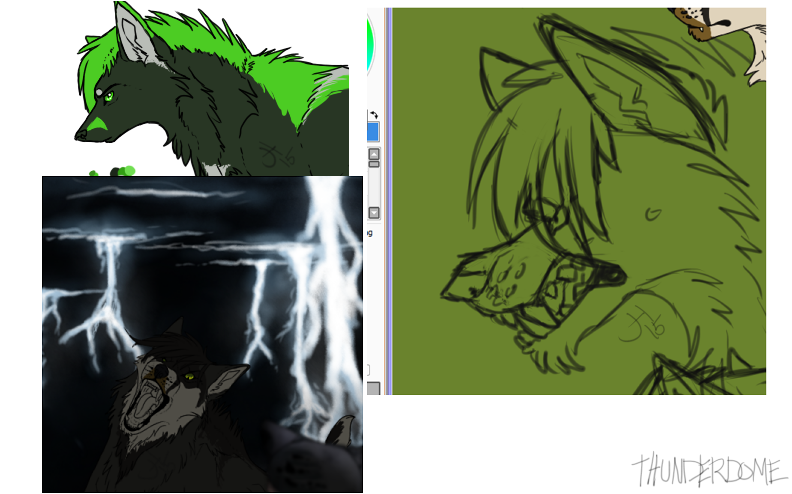Thunderdome WIPS by redtail-jess