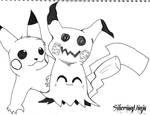Inktober Day#3 - You Make a Great Pikachu, Mimikyu