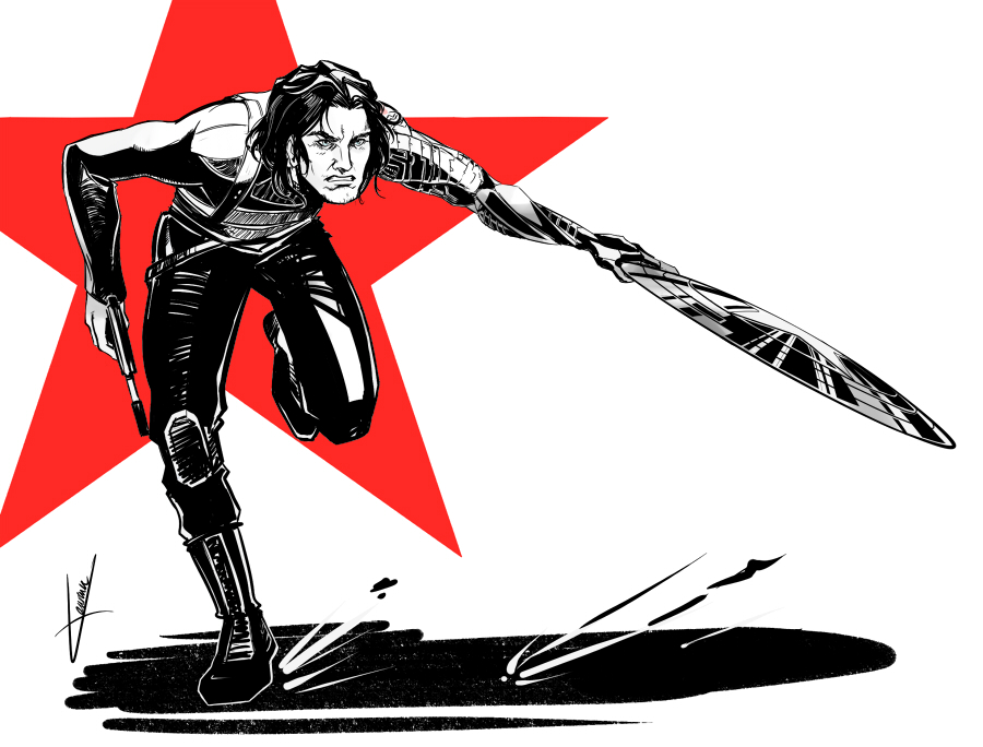 Winter soldier by Ptit-Neko
